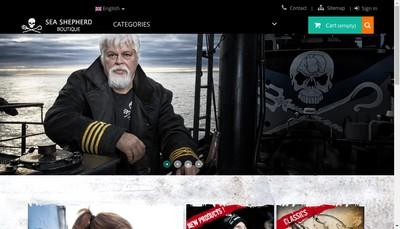 Site internet de Sea Shepherd Boutique