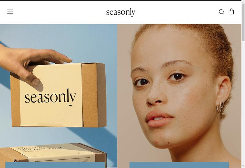 Capture d'écran du site de Seasonly