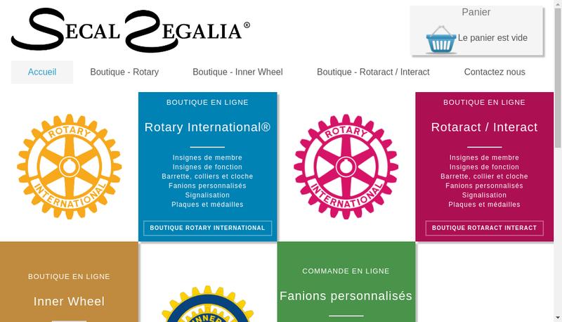 Capture d'écran du site de Secal