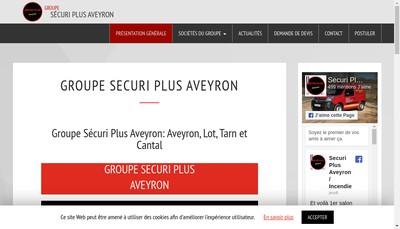 Site internet de Groupe Securi Plus Aveyron
