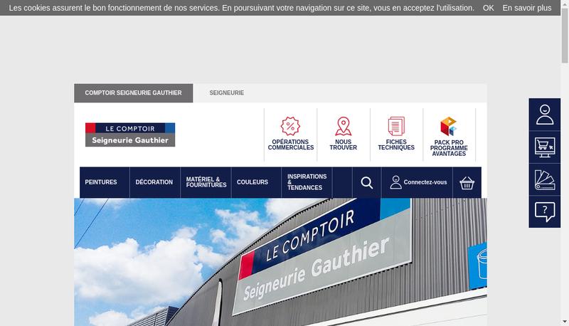 Capture d'écran du site de Ppg Distribution