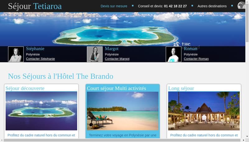 Capture d'écran du site de Mojito Spirit
