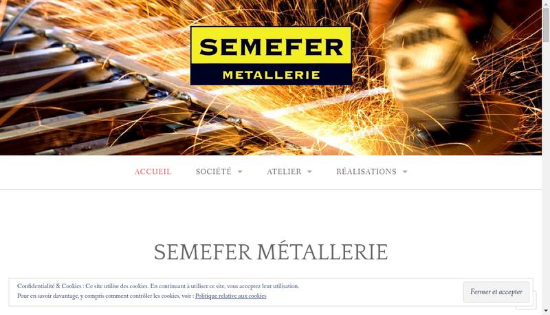 Capture d'écran du site de Semefer