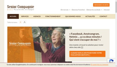Site internet de Senior Compagnie