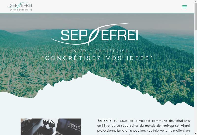 Capture d'écran du site de SEPEFREI