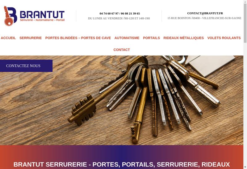 Capture d'écran du site de Brantut
