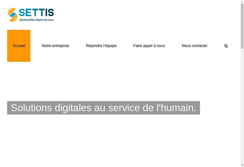 Capture d'écran du site de Solutiondata Services