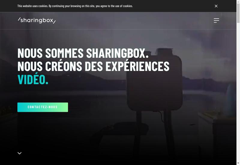 Capture d'écran du site de Sharingbox France
