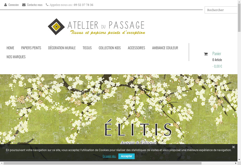 Capture d'écran du site de L'Atelier du Passage