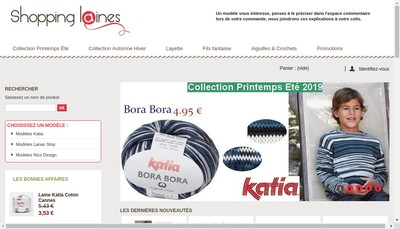 Site internet de Center Laine