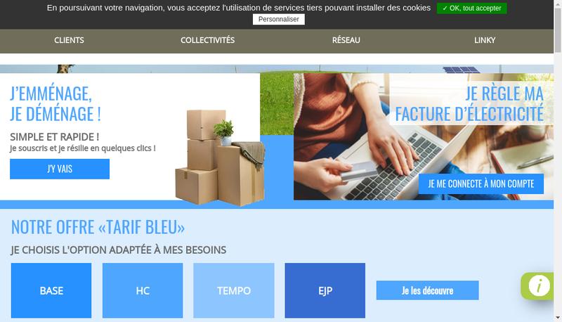 Capture d'écran du site de Sicae Oise