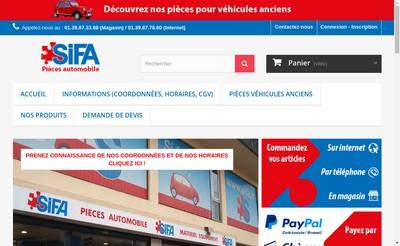 Site internet de Societe Industrielle Fournitures Automobiles