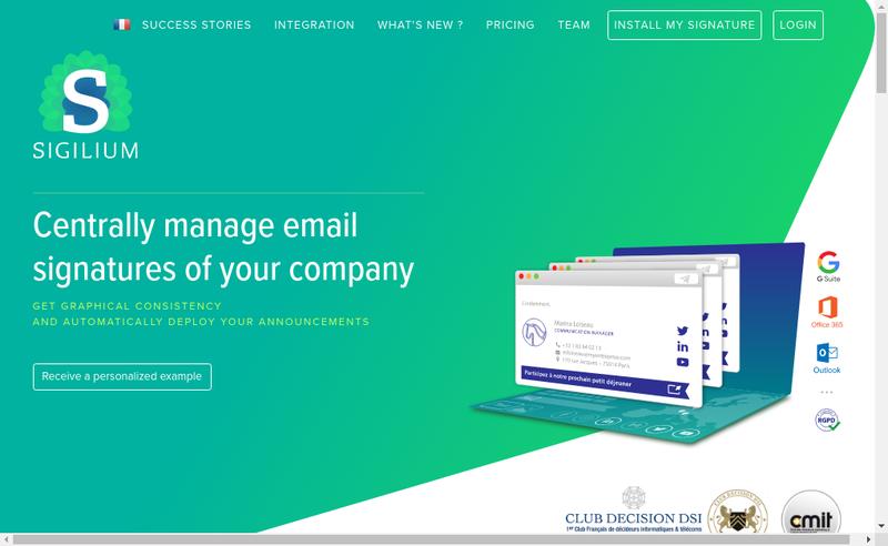 Capture d'écran du site de Sigilium