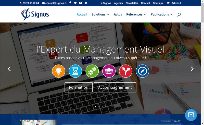 Capture d'écran du site de SIGNOS