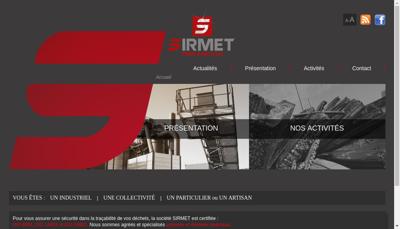 Capture d'écran du site de Sirimmo