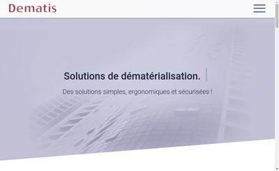 Site internet de Dematis