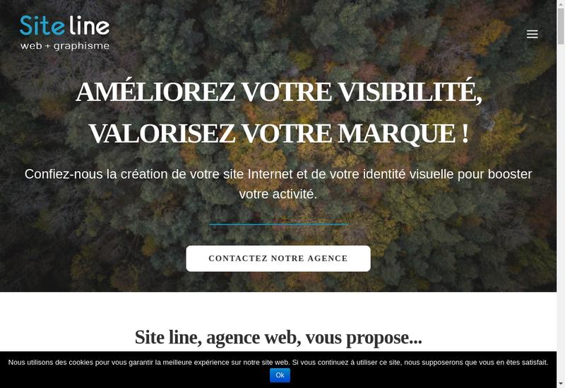 Capture d'écran du site de Site Line