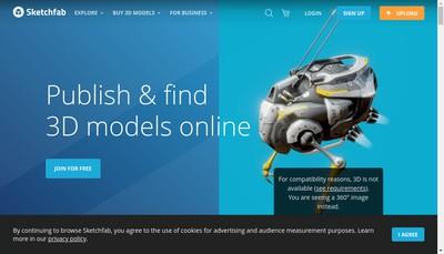 Site internet de Sketchfab