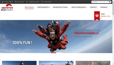 Site internet de Skydive Fly Zone