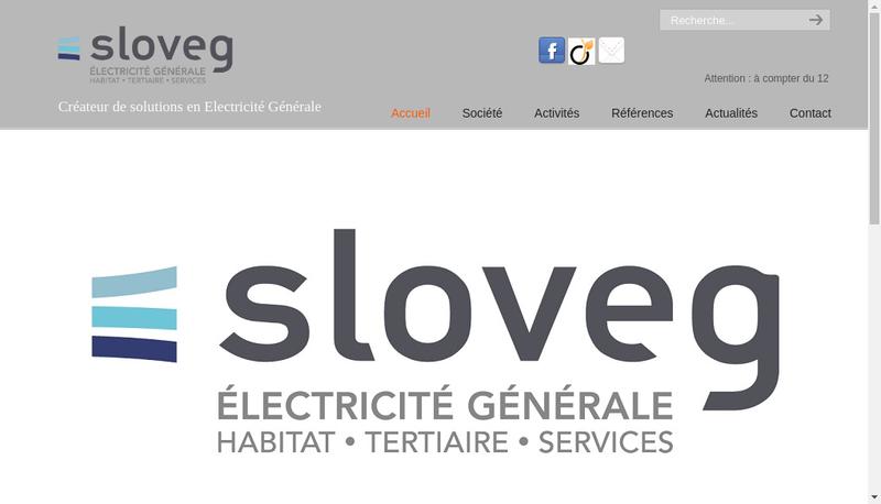 Capture d'écran du site de Societe Location Video d'Electricite Gen