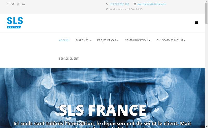 Capture d'écran du site de Sls France