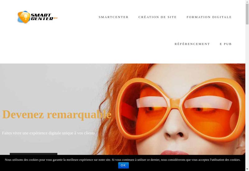 Capture d'écran du site de Smartcenter