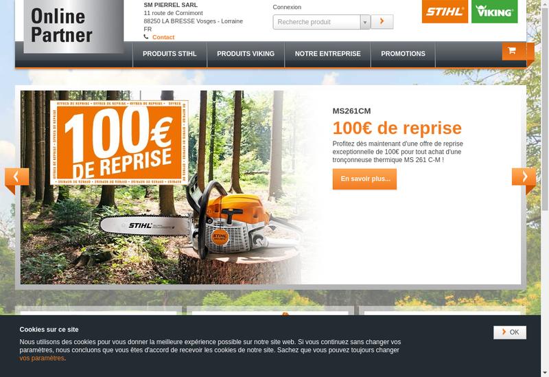 Capture d'écran du site de Sm Pierrel