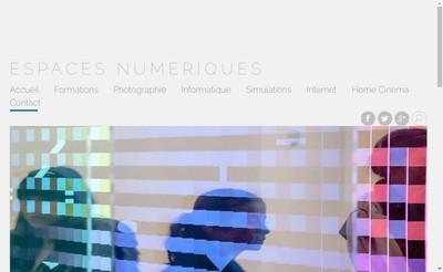 Site internet de Espaces Numeriques