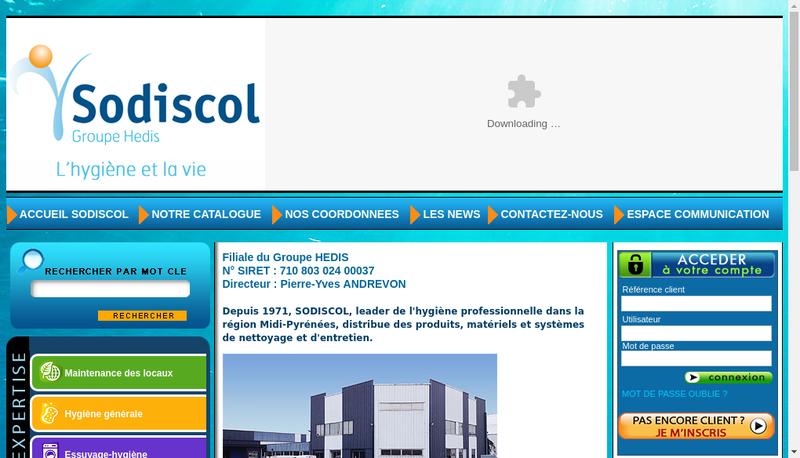 Capture d'écran du site de Sodiscol