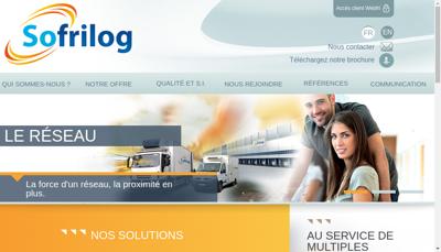 Capture d'écran du site de Sofrilog Trappes
