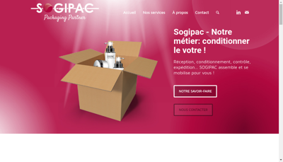 Capture d'écran du site de Sogipac