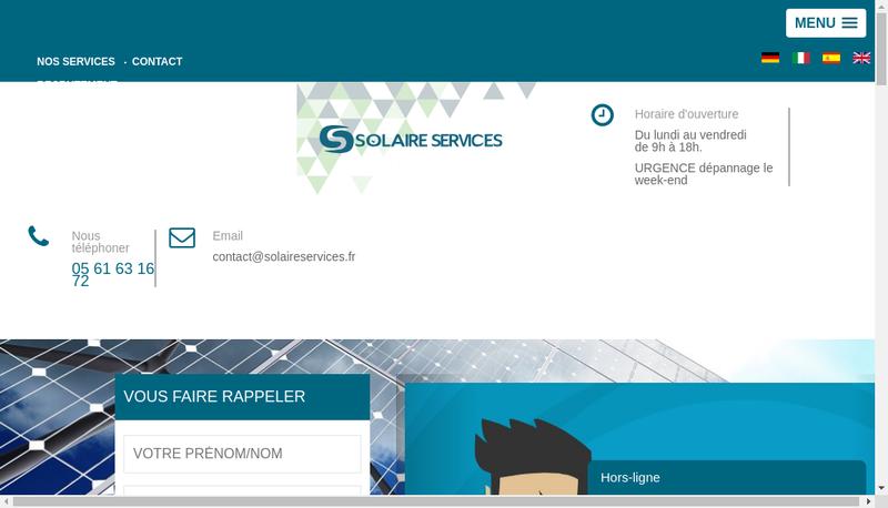 Capture d'écran du site de Saint Bris Solaire Services