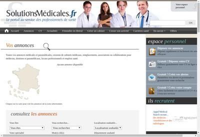 Site internet de Solutions Medicales