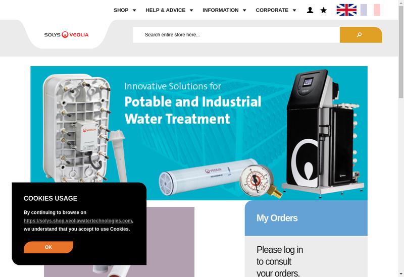 Capture d'écran du site de Veolia Water & Tech Participations 4