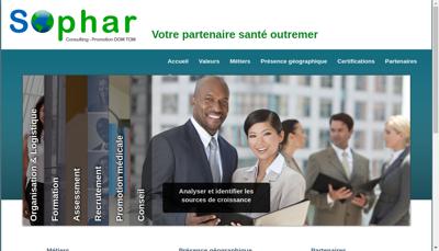 Capture d'écran du site de Sophar