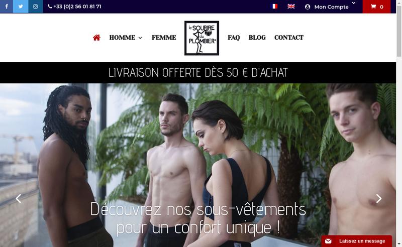 Capture d'écran du site de Le Sourire du Plombier