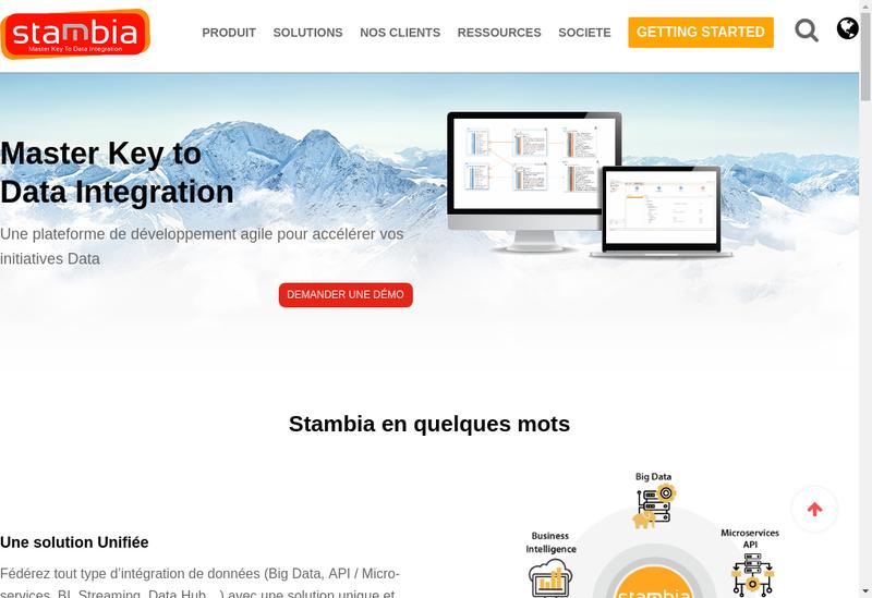 Capture d'écran du site de Stambia