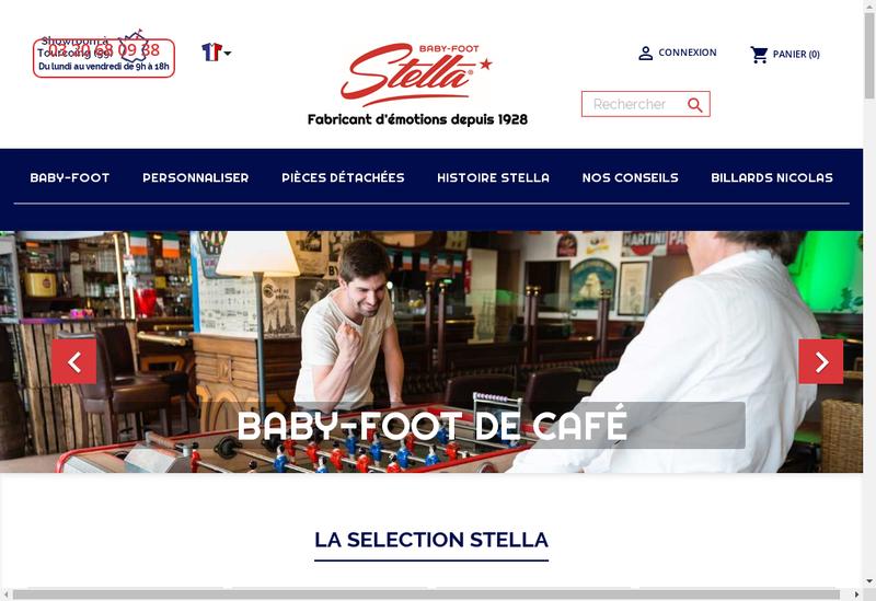 Capture d'écran du site de Stella Loisirs