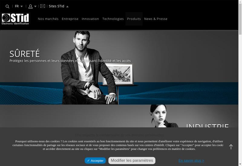 Capture d'écran du site de Systemes et Technologies Identificatio
