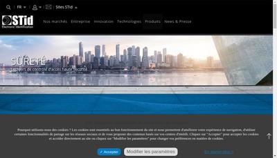 Site internet de Systemes et Technologies Identification