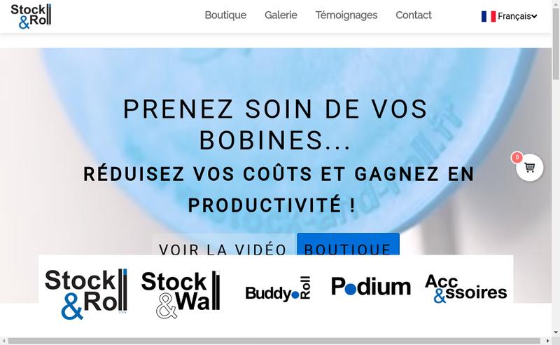 Capture d'écran du site de Stock And Roll