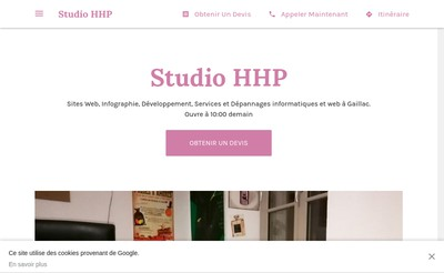 Site internet de Studio HHP