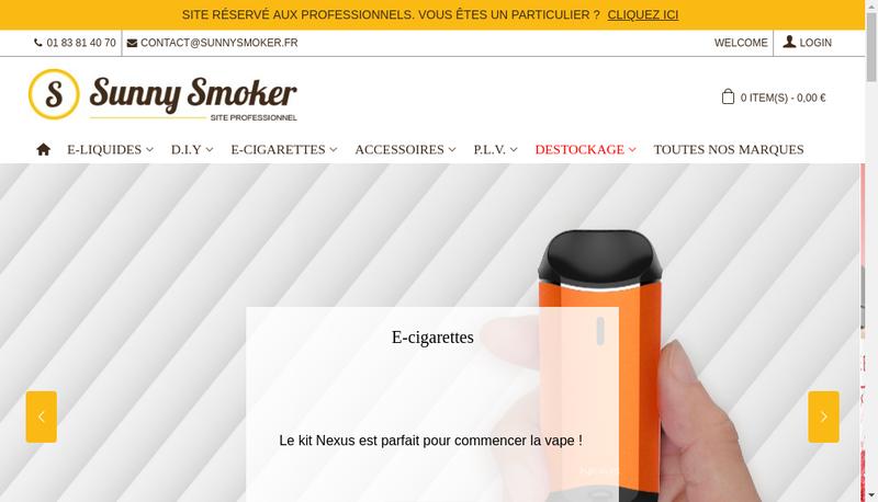 Capture d'écran du site de Sunnysmoker