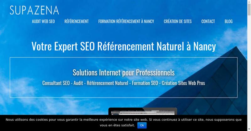 Capture d'écran du site de Supazena