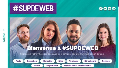 Site internet de Supdeweb Paris
