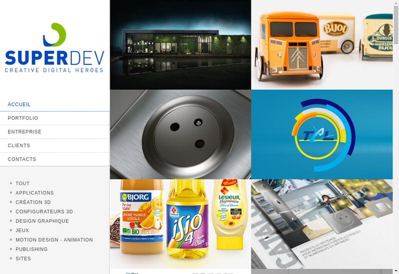 Capture d'écran du site de Superdev