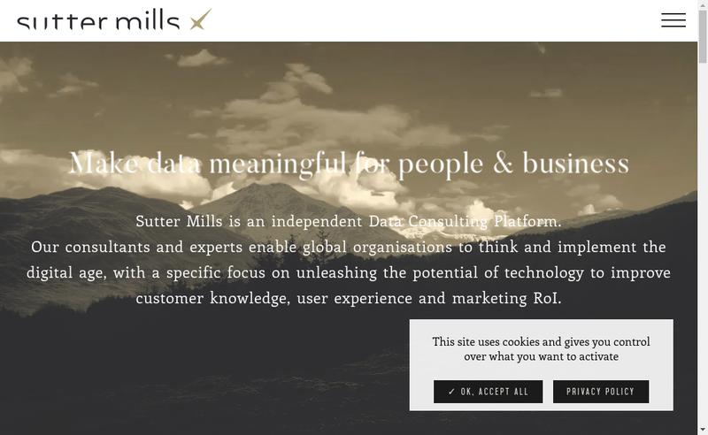 Capture d'écran du site de Sutter Mills Inside