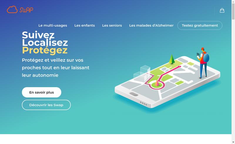 Capture d'écran du site de Swap