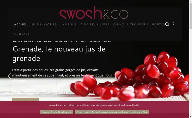 Capture d'écran du site de Juice Avenue
