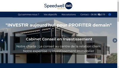 Site internet de Speedwell Solutions